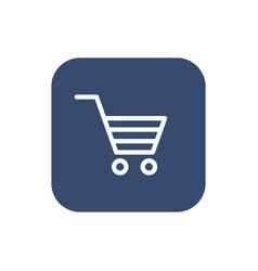 Shopping cart icon flat design vector