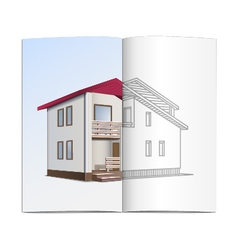 House sketch vector