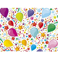 Birthday background with party streamers vector