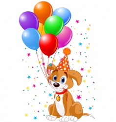 birthday puppy vector image