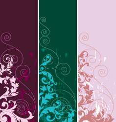 Set of abstract elements vector