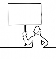 Man holding a protest sign vector