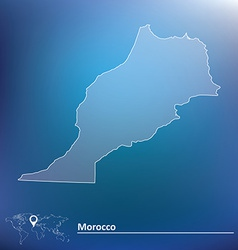 Map of morocco vector