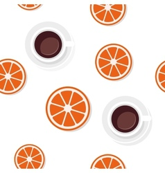 Breakfast food and drinks pattern vector