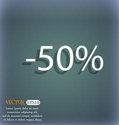 50 percent discount sign icon sale symbol special vector