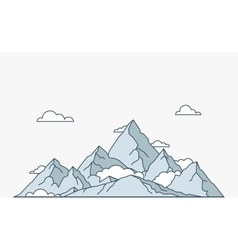 Nature and travel flat linear style mountain vector