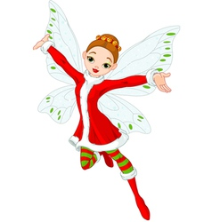 Christmas fairy vector
