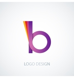Colorful logo letter b vector