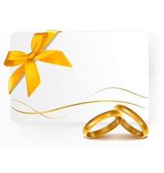 Background with wedding rings vector