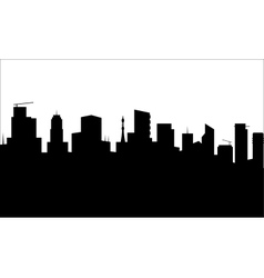 Black city silhouette vector