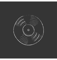 Disc drawn in chalk icon vector