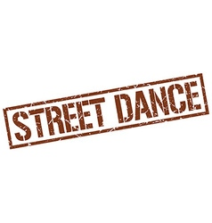 Street dance stamp vector