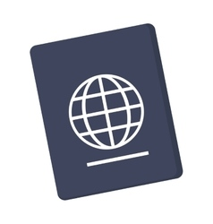 Passport with earth diagram icon vector