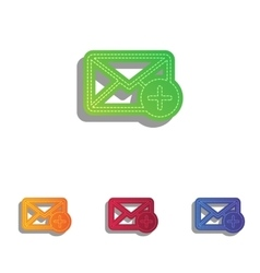 Mail sign with add mark colorfull vector