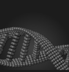 Array of grayscale spheres in form vector