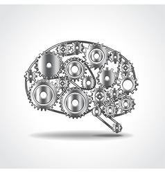 Brain of gears vector image