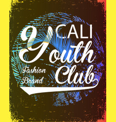 California youth club concept in vintage graphic vector