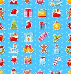 Christmas Holiday Seamless Texture vector image