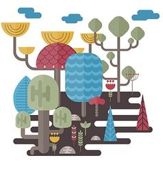 Forest landscapes vector image
