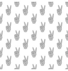 Gesture victoria seamless pattern vector