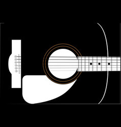 Guitar soundboard vector