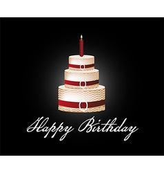 Happy birthday cake background vector image