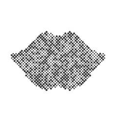 lips smile halftone design element Graphic vector image vector image
