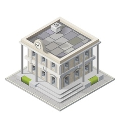 Mayoralty isometric building vector