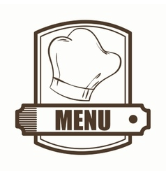 menu restaurant cover icon vector image vector image