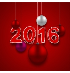 modern 2016 happy new year background vector image