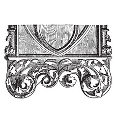 Pew end is a german middle gothic vintage vector