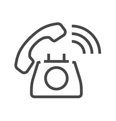 phone thin line icon vector image vector image