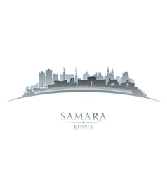 Samara Russia city skyline silhouette vector image