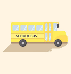 School transportation bus yellow cartoon vector