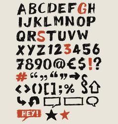 Scribbled abc elements vector