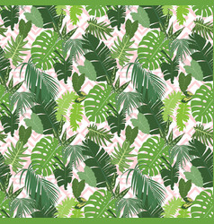 seamless ethnic tropical pattern vector image vector image