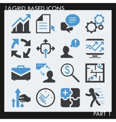 Set of 25 modern bussiness icons vector