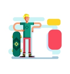 Skateboarder with advertising vector image