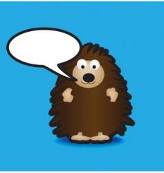 speech hedgehog vector image vector image