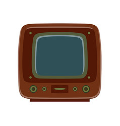 tv retro television icon old vintage screen vector image