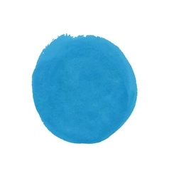 Watercolor round blue spot eps 10 vector
