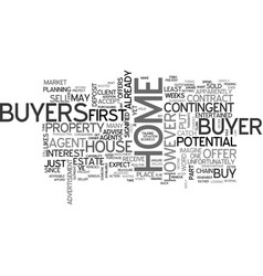 What to do if a buyer has to sell his house first vector