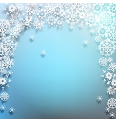 Winter background with snowflakes EPS 10 vector image vector image