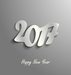 Abstract New Year card on a grey background vector image