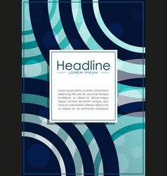 cover design a4 with blue abstract lines and vector image