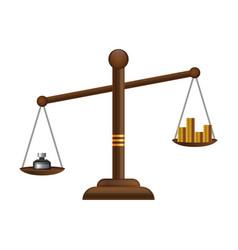 justice scales icon law balance symbol libra vector image