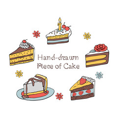 54 set of hand-drawn piece of cake vector