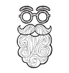 Mustache fashionable hipster vector