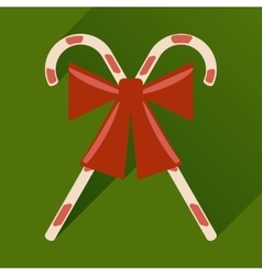 Flat icon with long shadow christmas candy vector