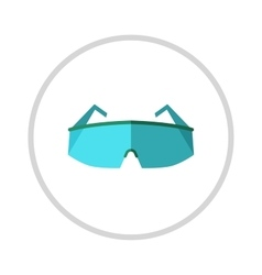 Glasses eye protection isolated on vector